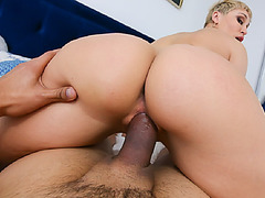Ryan pulls out her georgous tits for her stepson