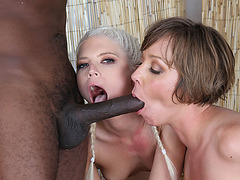 Two gorgeous slutty Julie Night and Jayda Diamonde gets banged by a black guy