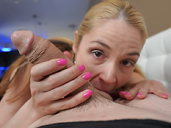 MILF Sarah has lots of appetite for young cock