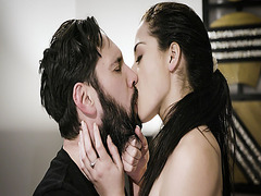 Avi Love and Mike Mancini start making love and kiss each other