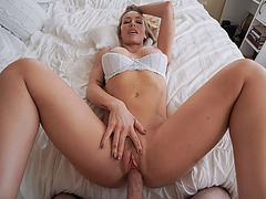 Stepson fucked her stepmom before dad gets home