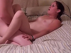Amateur couple film their intimate sex in bed