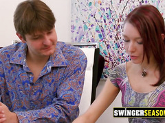 Group of amateur swingers make their fantasies a reality in swing house. Amateur reality TV show.