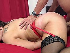 Big tittied milf Josephine titfucking Marc's meaty cock