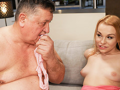 Teasing Stepdaughter gets Stepdad to Fuck her Horny Pussy Hard