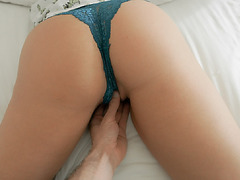 Horny stepson fingered her stepmoms milf pussy silly