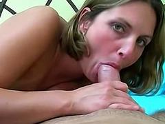 Big tit amateur blonde just really loves cock
