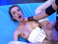 Busty elen million gets anal fuck and gives anal licking