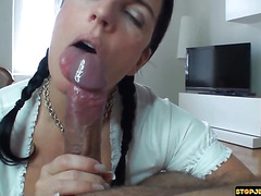 This dude has an orgasm just by being teased