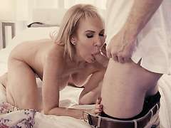 Erica Lauren is an elderly who needs someone to take care of her pussy