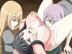 Bigboobs Japanese hentai foursome lesbians fucked