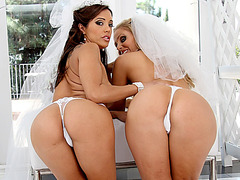 Yummy brides ass screwed by black cock