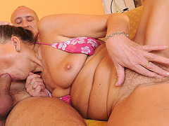 Grateful Granny Blows and Rides Erect Dick