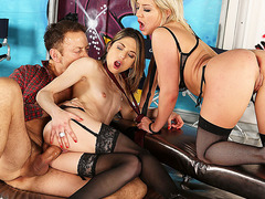 Sienna Day and Rachel Adjani got fucked hard by hung guys