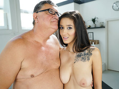 Old gentleman fucked Darcia Lee's younger pussy