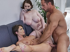 Johnny delivers good stroke to Anna and Emily