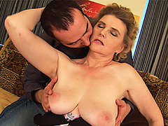 big boob chubby moms first tit job