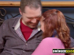 Swinger mature dude knows that his wife is going to fuck
