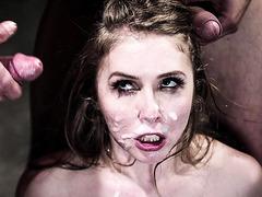 Big titted teen Lena Paul brutally gangbanged and DP'ed