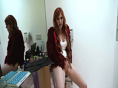 Lauren Phillips pops her MILF pussy and lets stepson fuck her