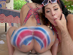 Perfect way to Celebrate the holiday, two girls doing one guy! - Valerie Kay, Valentina Jewels