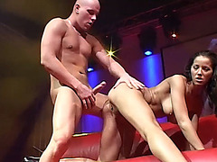 busty milf big cock fucked on public stage
