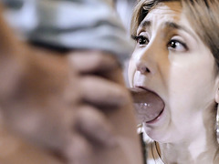 Babysitter Jane Wilde cheats her BF during work shift!