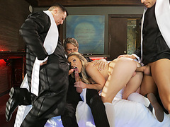 Kate Kennedy pays for her sin by fucking priests
