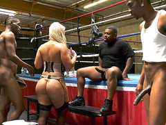 Alura Jenson Went To Boxing Club For Interracial Gangbang