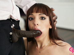 Petite latiana Matilde Ramos gives rimjob and fucked by BBC