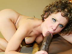 Black and Big - Brunette Cutie Katie St Ives Fucks and Swallows