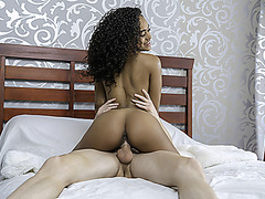 TeenyBlack - Tiny Black Girl With Perky Tits Gets Fucked Hard And Fast By BWC