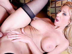 Blondes Love Dick - Regan Anthony Riding a Cock Makes Her Big Tits Bounce