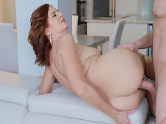 Young stud pounds Andi James milf pussy in every room