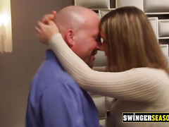 Hot and horny swinger couples are enjoying their time at the Swing house having sex everywhere!
