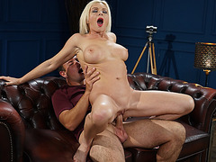 Franny is a naughty granny who takes Rob's big load in her mouth and face