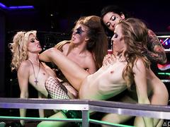 Hottest rockstar babes in a lesbian fuck showdown