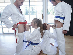 The pervy dads swap daugters Luna and Ashley for some deep penetrating