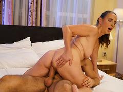 Kinky grandma Mariana fucks with her secret lover