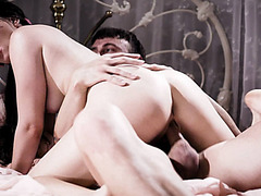 Teen Alison takes Chad's long dong in her pussy for deep penetration