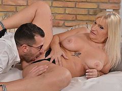 Mature Anna is the kind of boss who knows how to take care of her assisstants fat cock