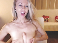 Hot Blonde Loves Riding Her Dildo Live On Webcam