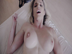 Big tits mom Cory Chase getting her milf twat plown by stepson