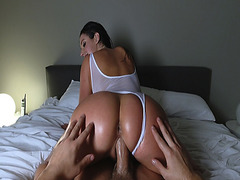 Latina milf Angela White loves the cock inside her oiled pussy