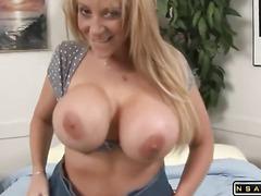 Huge tits MILF takes 2 monster black cocks