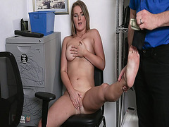 Eliza Eves makes a deal with the officer and gets to strip off her clothes