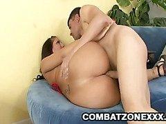Big ass babe gets her ass fondled
