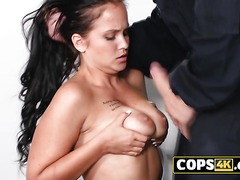 A slutty European babe is willing to fuck with anyone in this prison.