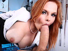 Tarra bent over on the table to get fucked hard