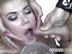 Premium Bukkake - 100 mouthful cumshots compilation